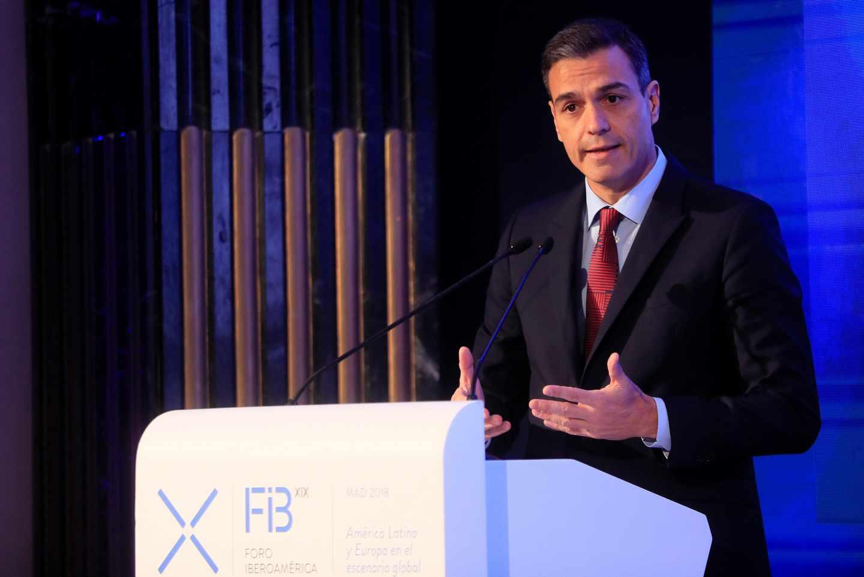 Pedro Sánchez inaugura el Foro Iberoamericano.