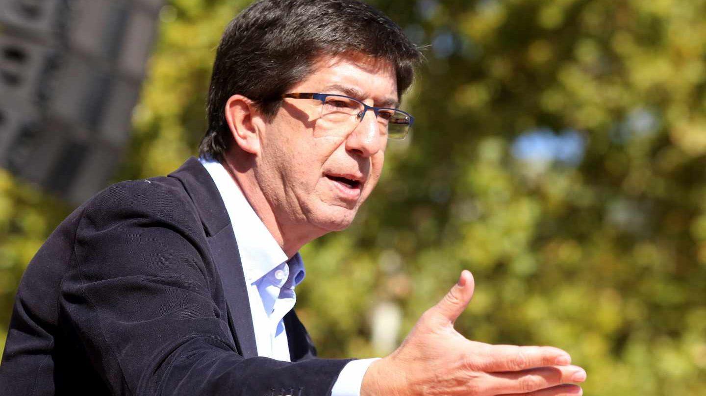 El candidato de C's a la presidencia de la Junta de Andalucía, Juan Marín.
