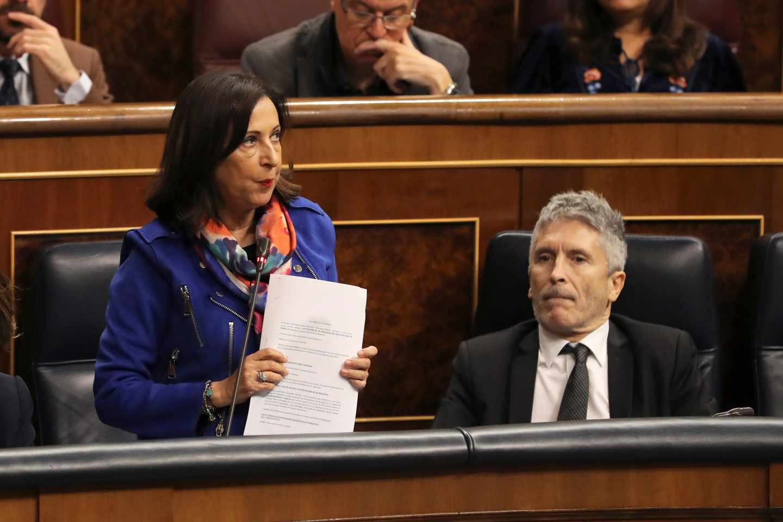 Margarita Robles, durante su intervención en el Congreso.