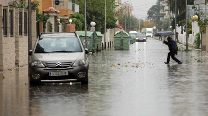 Cataluña y la Comunidad Valenciana, en aviso por lluvias.