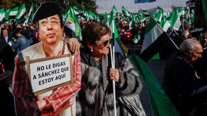 Manifestación en Madrid por un tren digno para Extremadura.