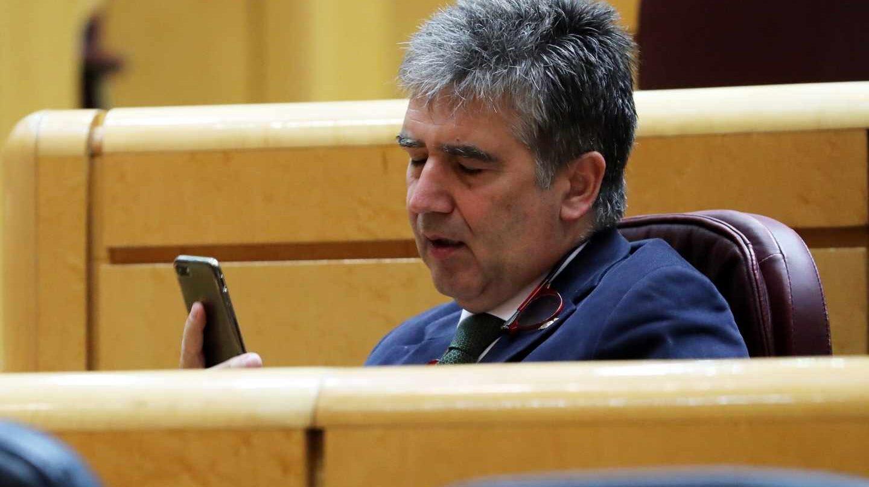 El portavoz del Grupo Popular en el Senado, Ignacio Cosidó, durante el pleno de la Cámara Alta.