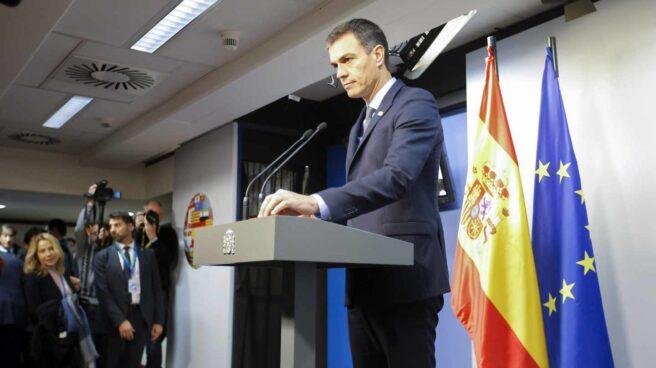 Pedro Sánchez, durante su comparecencia tras la cumbre de la UE que ha aprobado el acuerdo del Brexit.