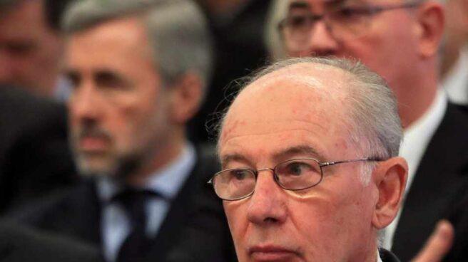 El ex presidente de Bankia, Rodrigo Rato, en el juicio contra la entidad.