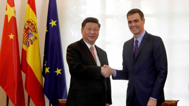 El presidente de China, Xi Jinping, y Pedro Sánchez, en la Moncloa.