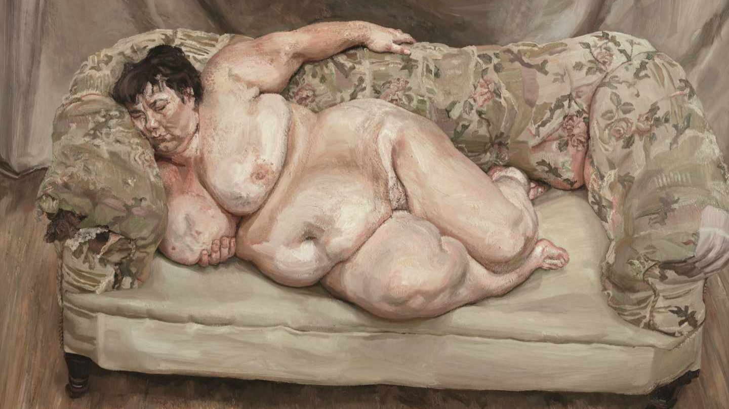 'Benefits Supervisor Sleeping', 1995. Lucian Freud.