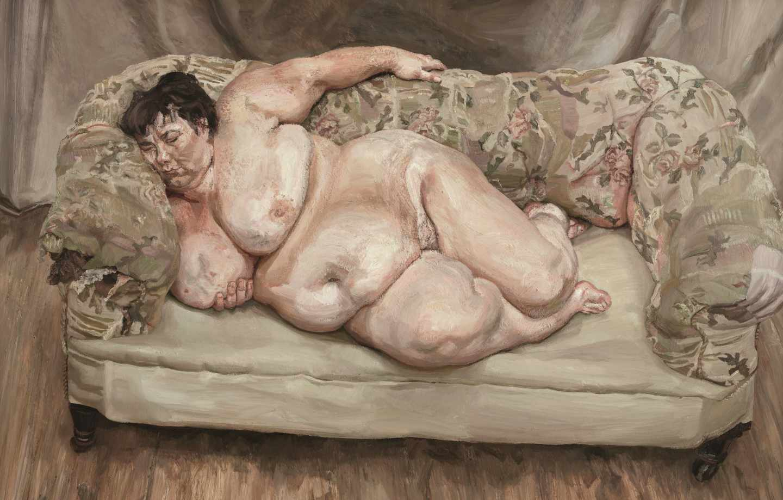 'Benefits Supervisor Sleeping', 1995. Lucian Freud.