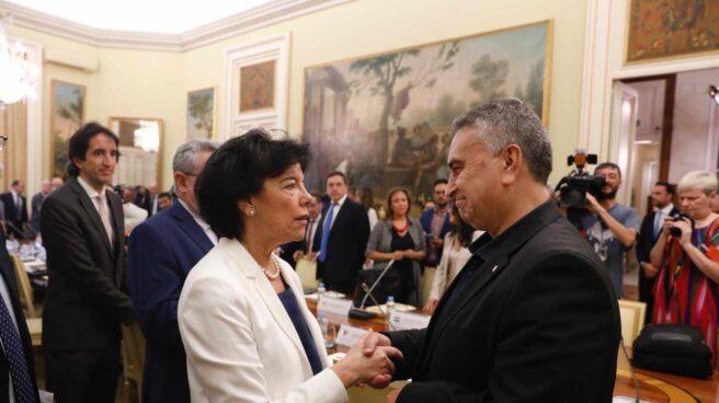 La ministra Isabel Celaá, en la Conferencia de Educación.