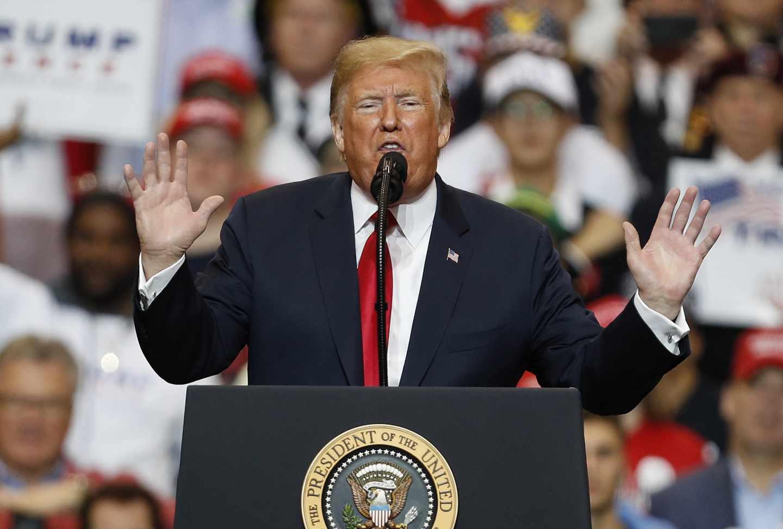 El presidente de EEUU, Donald Trump, en uno de los últimos mítines de la campaña electoral.