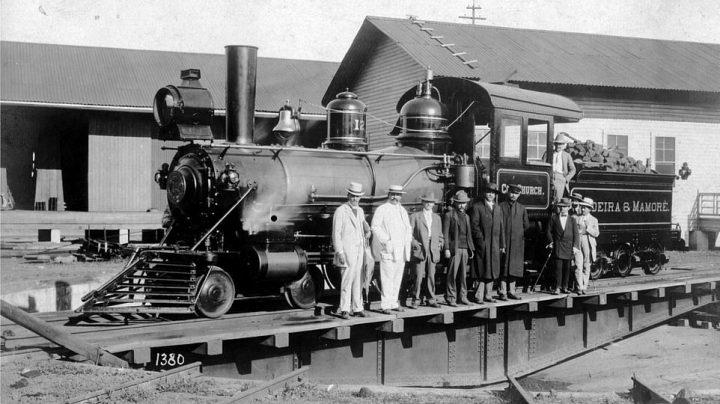 Imagen del Archivo Nacional de Brasil de una de las locomotras que circulaban por la línea Madeirá-Mamoré