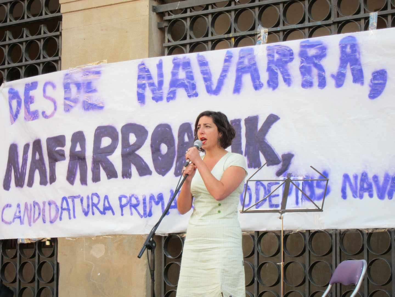 Laura Pérez, ex secretaria general de Podemos Navarra,, en una imagen de archivo