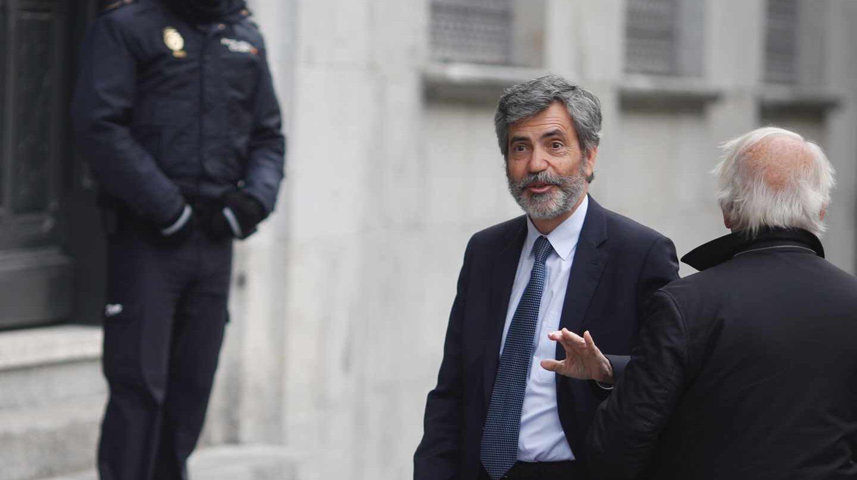 Carlos Lesmes, a las puertas del Tribunal Supremo.