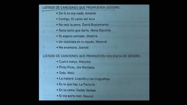 Canciones Que Según El Gobierno De Navarra Promueven Sexismo Y Violencia De Género