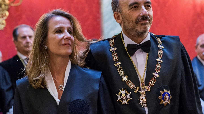 Los magistrados del Tribunal Supremo Carmen Lamela y Manuel Marchena.