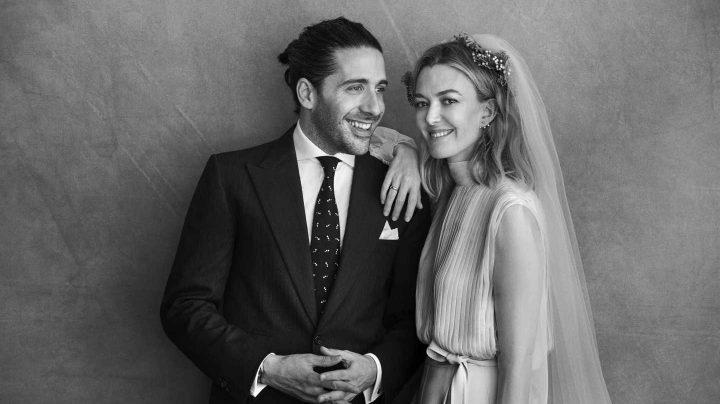 Carlos Torretta y Marta Ortega, hija de Amancio Ortega el día de su boda.