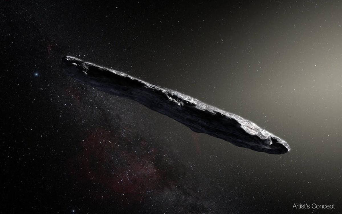 Recreación artística de Oumuamua