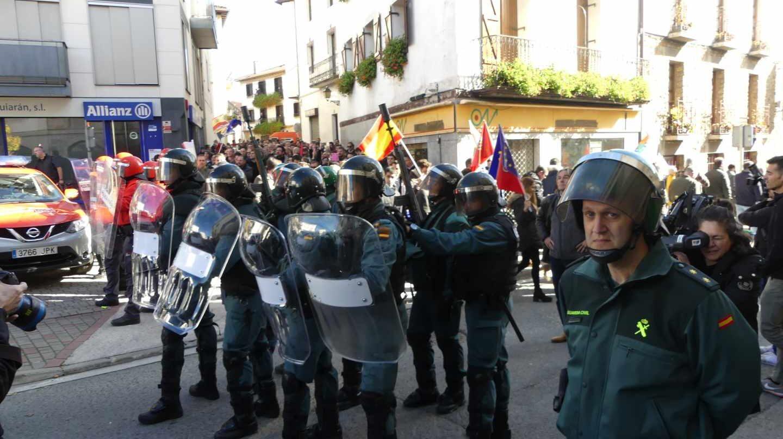 Operativo de la Guardia Civil durante el acto de 'España Ciudadana' celebrado en Alsasua.