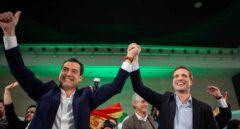 Mitin de cierre de campaña del candidato del PP-A a la Presidencia de la Junta, Juanma Moreno, junto al presidente del PP, Pablo Casado.