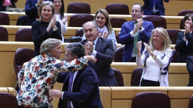 Miembros del grupo parlamentario del PP en el Senado.