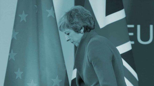 Theresa May, en la cumbre del Brexit en Bruselas.