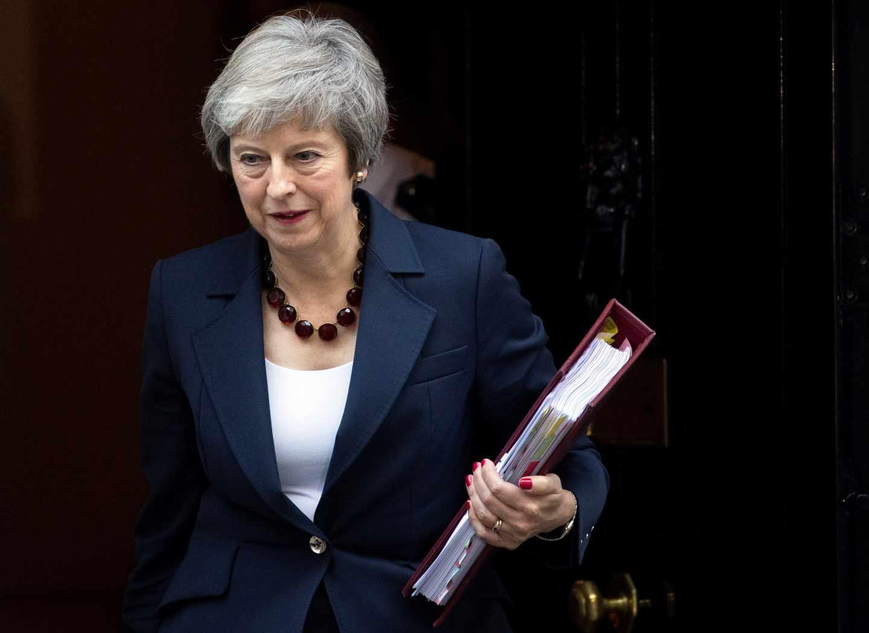 Theresa May en el 10 de Downing Street.