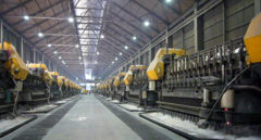 La planta de la aluminera Alcoa en Avilés.