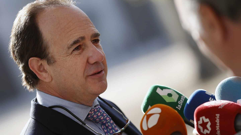 El exalcalde de Boadilla del Monte, Arturo González Panero, tras su declaración.