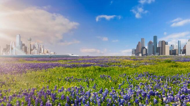 Recreación del AVE Dallas - Houston por parte de la empresa promotora, Texas Central.