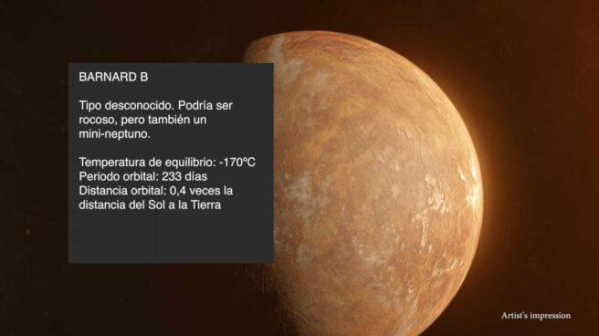 Recreación del planeta Barnard B