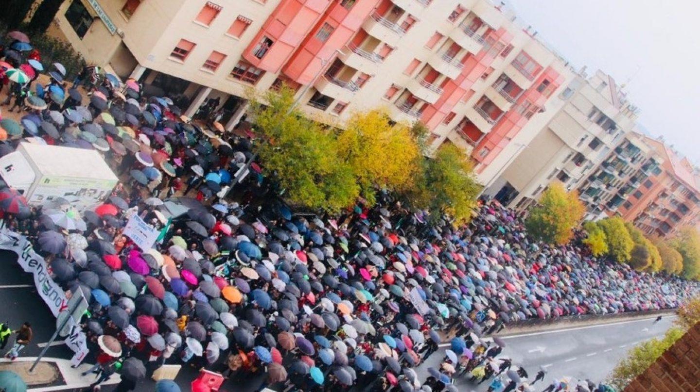 Manifestación por un tren digno en Cáceres.