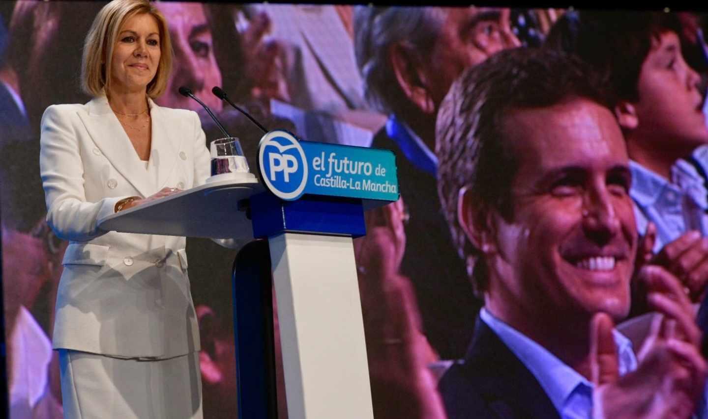 María Dolores de Cospedal, en un acto del PP de Castilla-La Mancha.