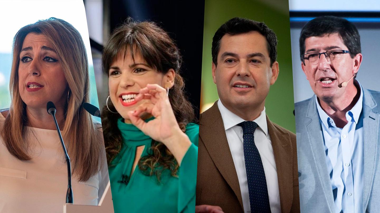 Candidatos a la Junta de Andalucía