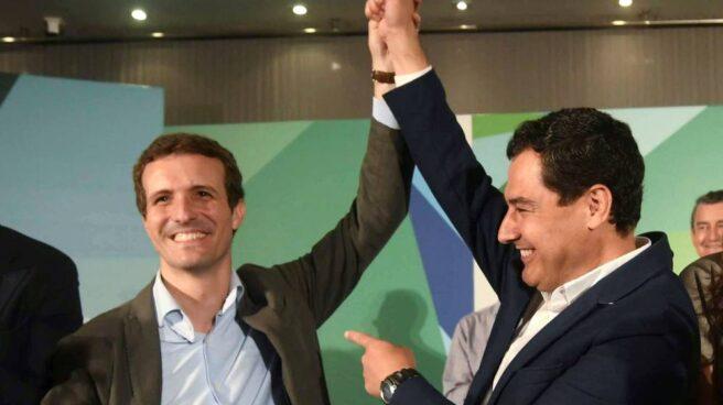 Pablo Casado y Juan Manuel Moreno