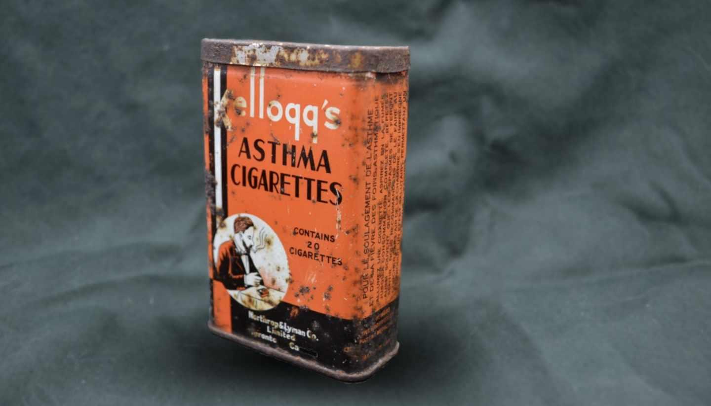 Hasta 1950 era común prescribir cigarrillos contra el asma