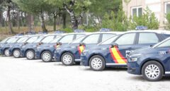 Patrulleros de la Policía Nacional el día que se presentaron.