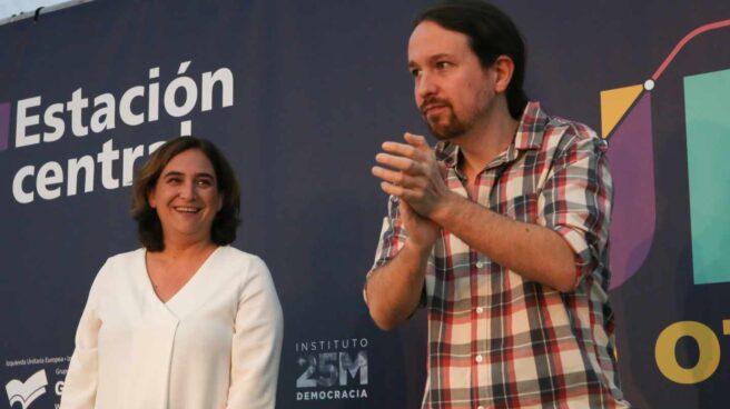 Ada Colau y Pablo Iglesias.