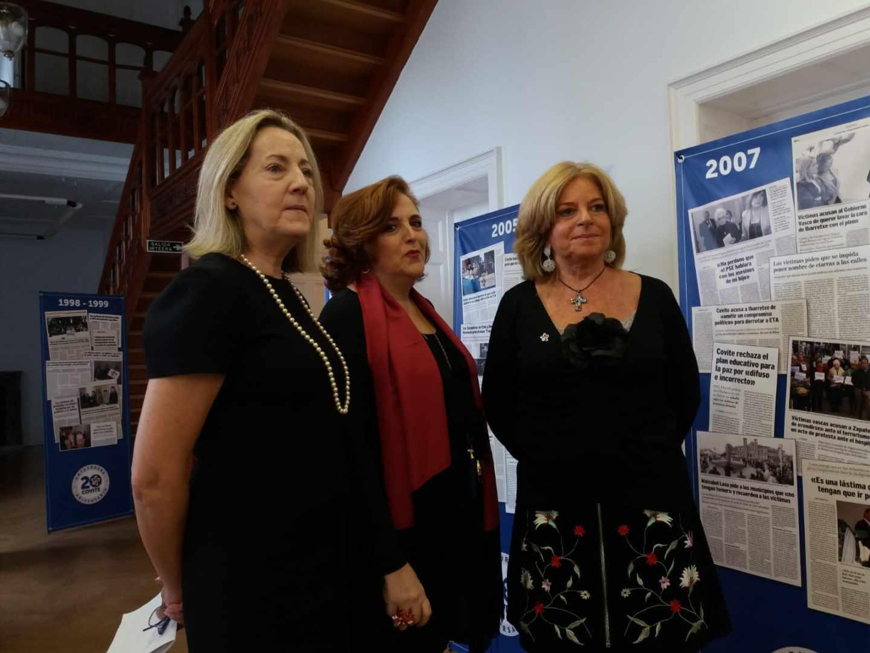 Las responsables de Covite, en el acto del XX aniversario de la asociación.