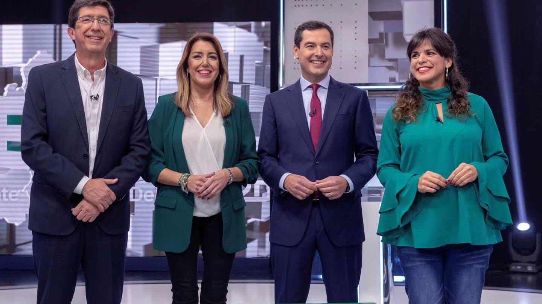 Juan Marín, Susana Díaz, Juanma Moreno y Teresa Rodríguez.