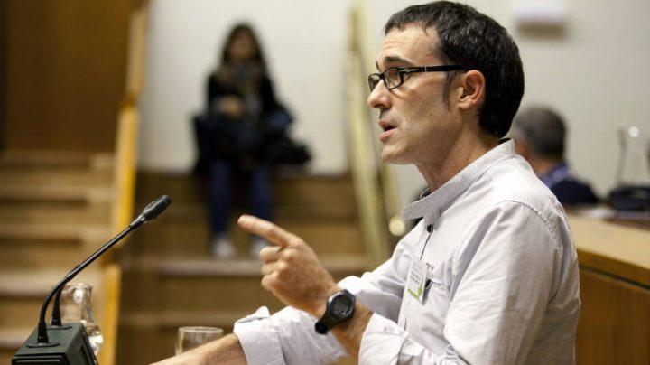 El portavoz de EH Bildu en el Parlamento Vasco, Julen Arzuaga.