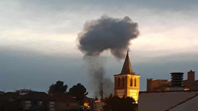 La explosión, vista desde el centro de Guadix.