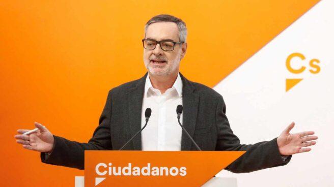 El diputado de Ciudadanos José Miguel Villegas, en una comparecencia pública.