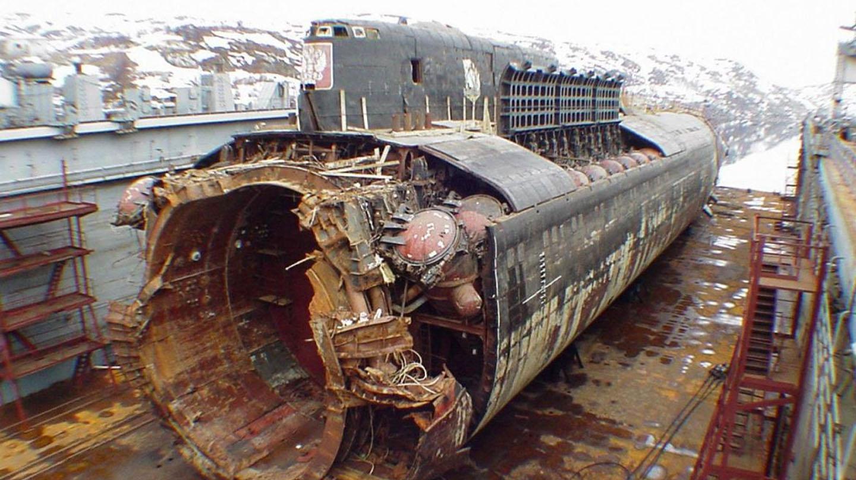 Los restos del Kursk