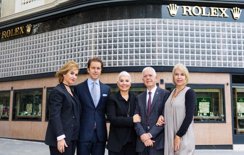 Rosa Tous, Cedric Müller, Rosa Oriol, Salvador Tous y Alba Tous