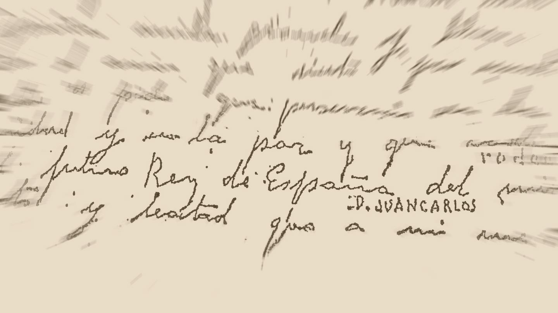 Manuscrito de Franco con su mensaje póstumo.