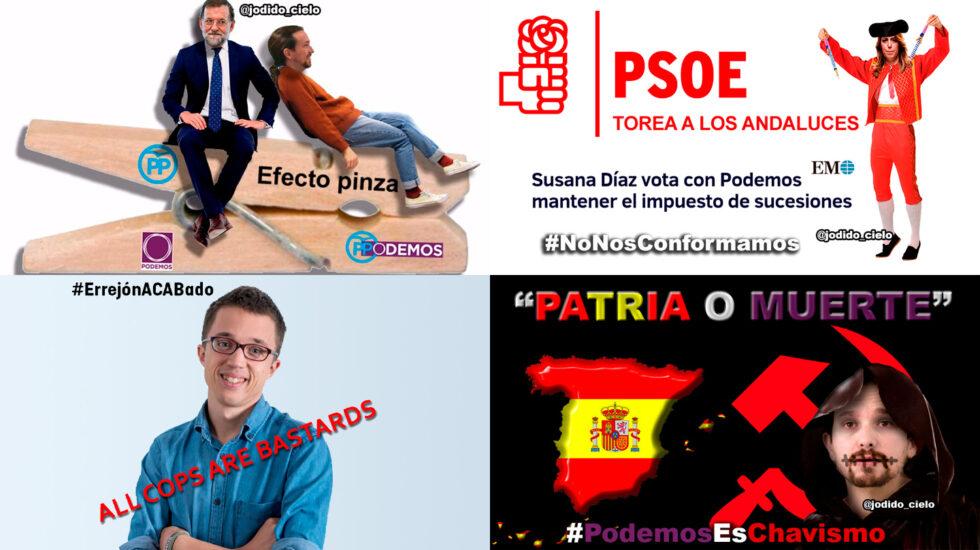 Memes distribuidos en canales participados por responsables de comunicación de Ciudadanos