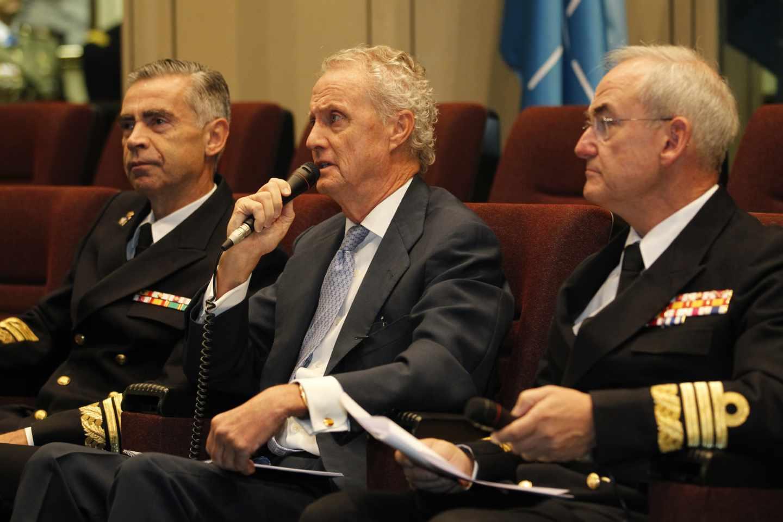 El ex ministro de Defensa Pedro Morenés en un acto del Ejército en 2013.