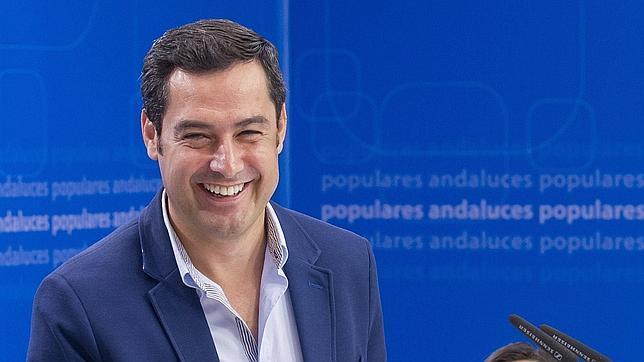 El candidato del PP a la presidencia de la Junta de Andalucía, Juan Manuel Moreno