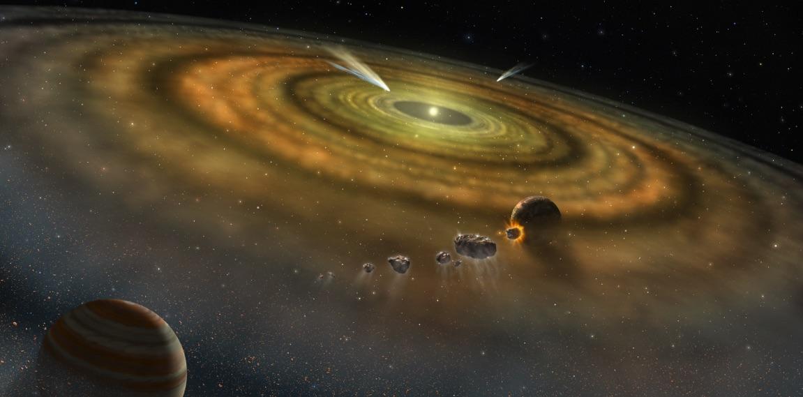 Recreación de la primitiva nebulosa solar
