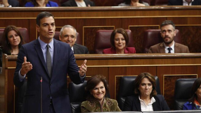 Pedro Sánchez en la sesión de control del Congreso.