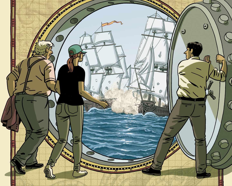 Detalle de la portada de 'El tesoro del Cisne Negro'